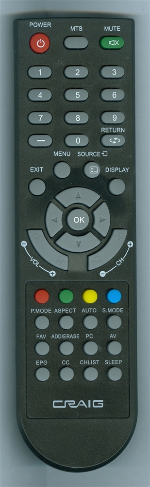 CRAIG CLC504 Genuine OEM original Remote
