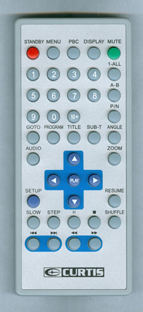 CURTIS INTERNATIONAL DVD8007B Genuine OEM Original Remote