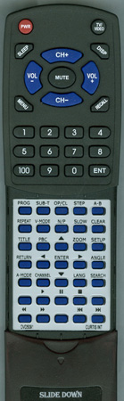 CURTIS INTERNATIONAL DVD5091 Custom Built Redi Remote