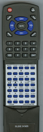 CURTIS INTERNATIONAL LCDVD326A Custom Built Replacement Redi Remote