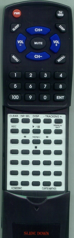 CURTIS MATHES AC59-00064D 00064D  Custom Built Redi Remote