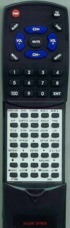 DIGIX MEDIA HT1056A Custom Built Redi Remote