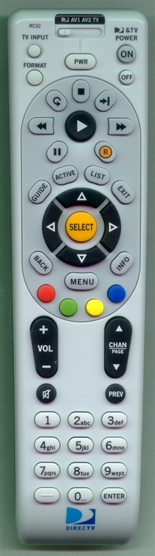 DIRECTV RC32 Refurbished Genuine OEM Original Remote