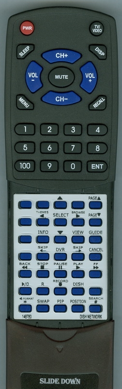 DISH NETWORK 148780 Custom Built Replacement Redi Remote