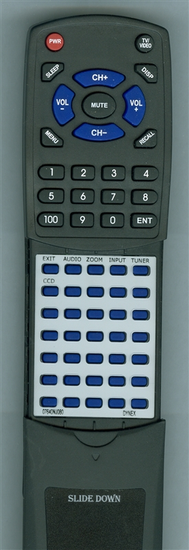 DYNEX 07640NJ080 Custom Built Replacement Redi Remote