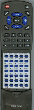 DYNEX TV-5620-82 HTR-274E Custom Built Redi Remote