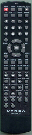 DYNEX TV-5620-48 HTR-292C Genuine OEM Original Remote