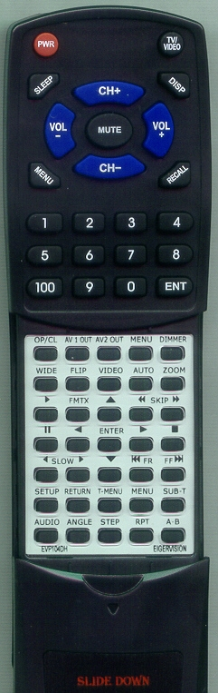 EIGER VISION EVP104DH Custom Built Replacement Redi Remote
