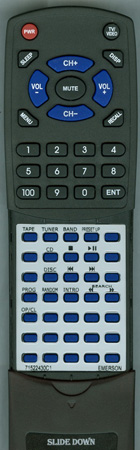 EMERSON 71522430C1 Custom Built Replacement Redi Remote