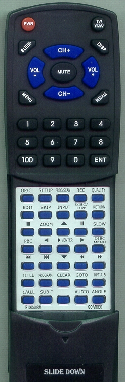 GO VIDEO R106530RM Custom Built Redi Remote