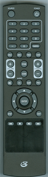GPX REM-TE1380-UNV Genuine OEM Original Remote