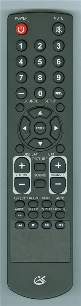 GPX REM-TE1582-GD TE1982RS Genuine  OEM original Remote