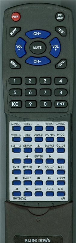 GPX REM-TDE4074-LZ Custom Built Replacement Redi Remote