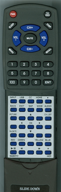 HAIER 504Q3915101 Custom Built Replacement Redi Remote