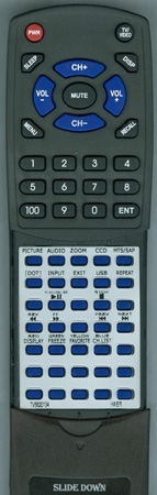 HAIER TV-5620-134 HTRD09B Custom Built Redi Remote