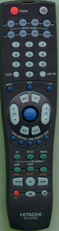 HITACHI HL01323 CLU-573TSI Genuine  OEM original Remote