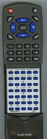 HITACHI 098GRABD1NEHTM CLU-4591AV Custom Built Replacement Redi Remote