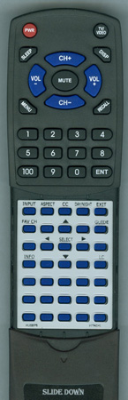 HITACHI HL02075 CLU4371UG2 Custom Built Replacement Redi Remote