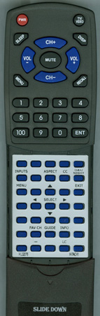 HITACHI HL02076 CLU4372UG2 Custom Built Redi Remote