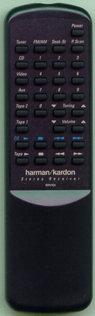 HARMAN KARDON 6142-07803 RRV101 Genuine OEM original Remote