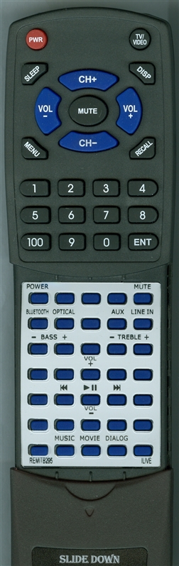 ILIVE REM-ITB295 Custom Built Redi Remote