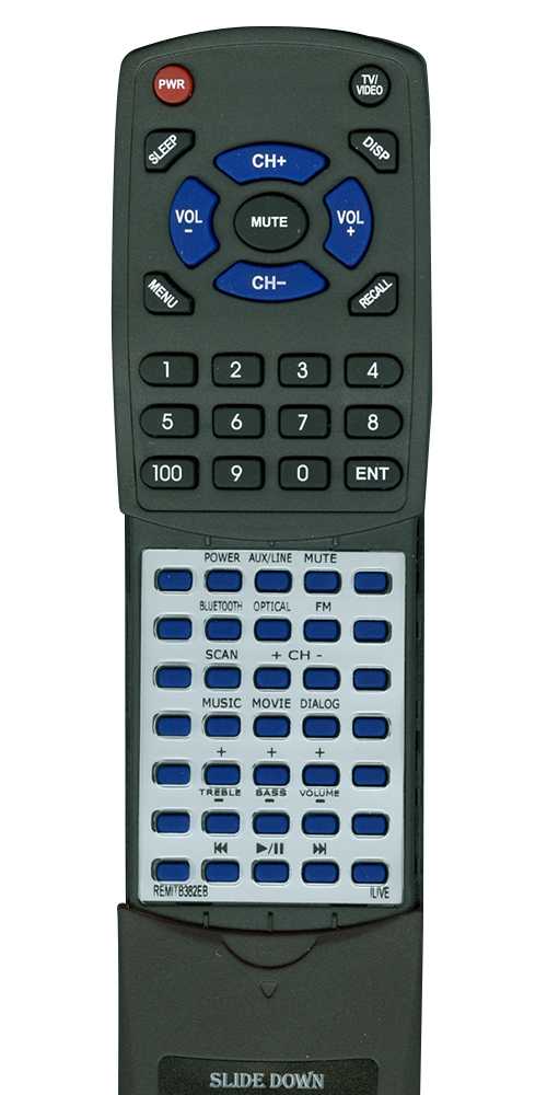 ILIVE REM-ITB382-EB Custom Built Replacement Redi Remote