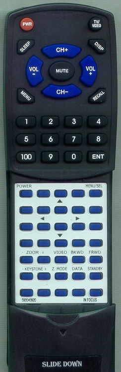 IN FOCUS 590-0409-20  Custom Built Redi Remote