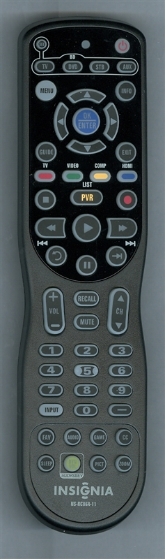 INSIGNIA 098GRABDSNEBYU NS-RC06A-11 Genuine OEM original Remote