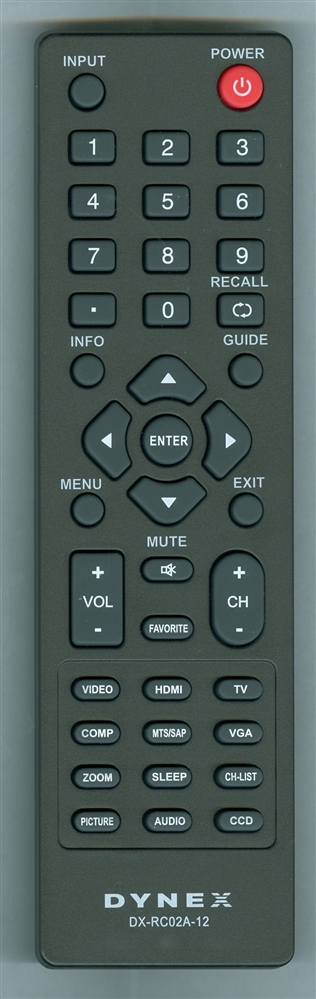 INSIGNIA 098GRABDUNEDYJ DX-RC02A-12 Genuine  OEM Original Remote