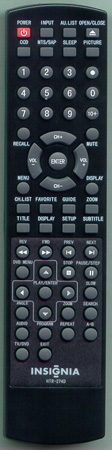 INSIGNIA TV-5620-68 HTR-274D Genuine OEM Original Remote