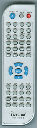 IVIEW IVIEW-2600HD-Z IVIEW2600HDZ SILVER  Genuine  OEM original Remote