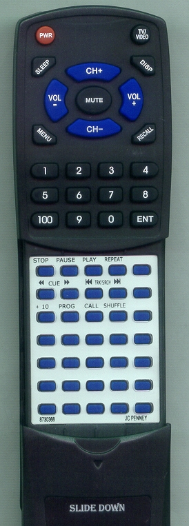 JC PENNEY 873-0368  Custom Built   Replacement Redi Remote