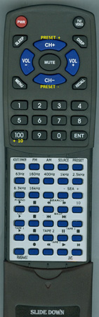 JVC RM-SA450 RMSA450 Custom Built Replacement Redi Remote