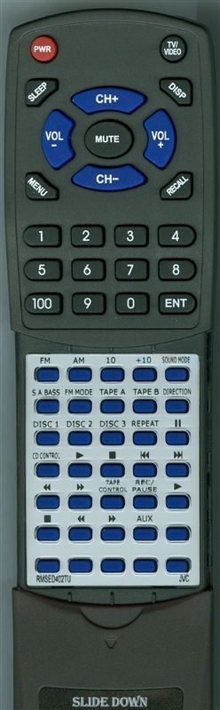 JVC RM-SED402TU Custom Built Redi Remote