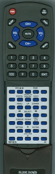 JVC RM-STHBC3A Custom Built Replacement Redi Remote