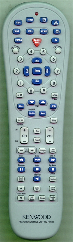 KENWOOD A70-1622-05 RC-R0822 Genuine OEM original Remote