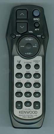 KENWOOD A70-2085-05 RC547 Genuine OEM Substitute Remote