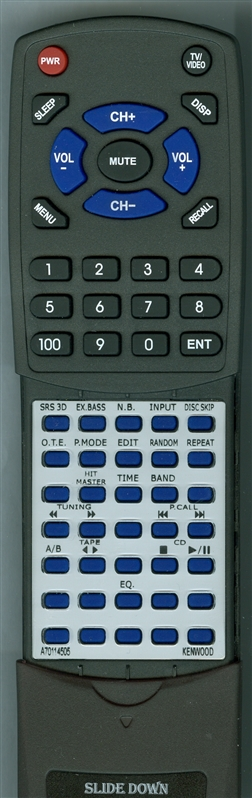 KENWOOD A70-1145-05 RC-H3K Custom Built Redi Remote