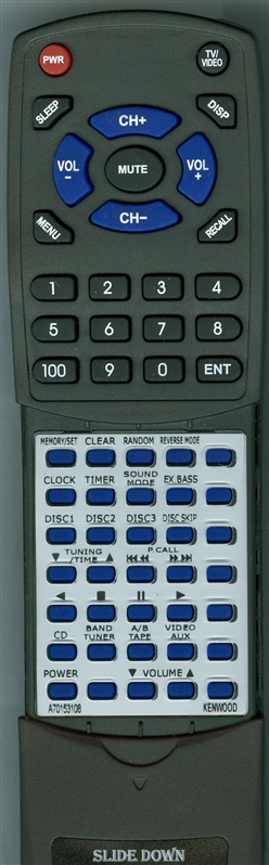 KENWOOD A70-1531-08 RC-655 Custom Built Replacement Redi Remote