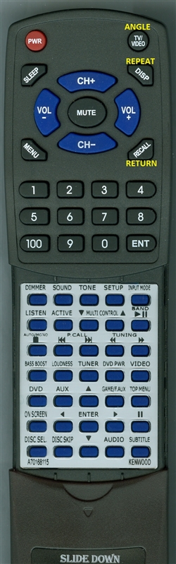 KENWOOD A70-1681-15 RCR0919 INSERT Custom Built Redi Remote