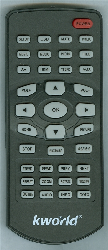 KWORLD M130 Genuine OEM Original Remote