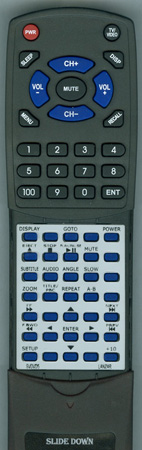 LANZAR SVDVD5 Custom Built Replacement Redi Remote