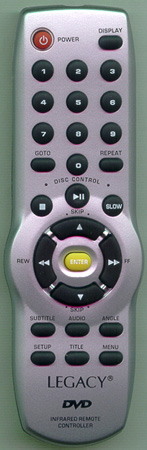 LEGACY LDVD74 Genuine  OEM Original Remote
