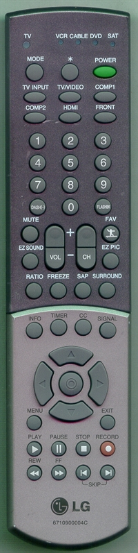 LG 6710900004C Genuine  OEM Original Remote
