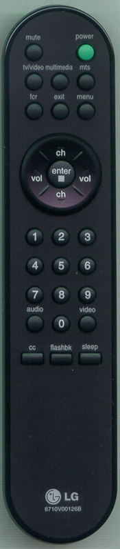 LG 6710V00126B 6710V00126B Genuine OEM Original Remote