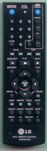 LG AKB35840202 Genuine OEM Original Remote