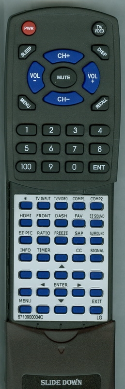 LG 6710900004C Custom Built Redi Remote