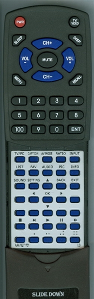 LG AAA75271701 AKB73975722 Custom Built Redi Remote