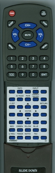 LG AKB69680427 Custom Built Replacement Redi Remote