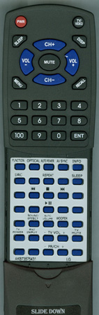 LG AKB73575431 Custom Built Redi Remote